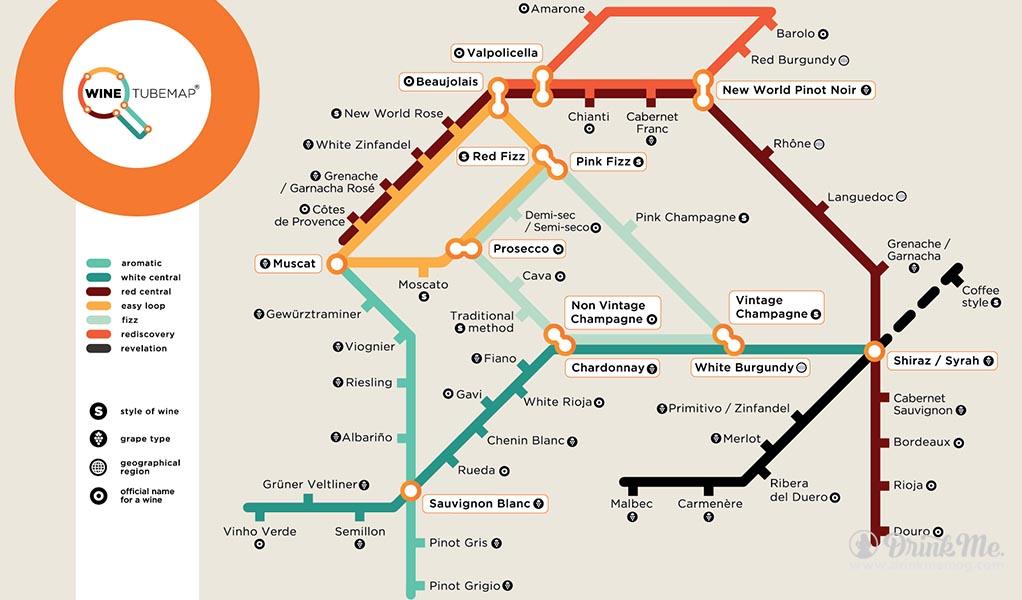 Wine Tube Map